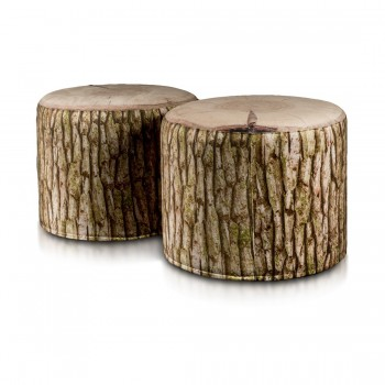 pouf cilindro poliestere modern 40x50