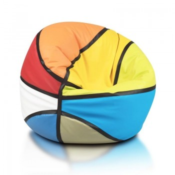 COVER POUF PALLONE BASKET MIX