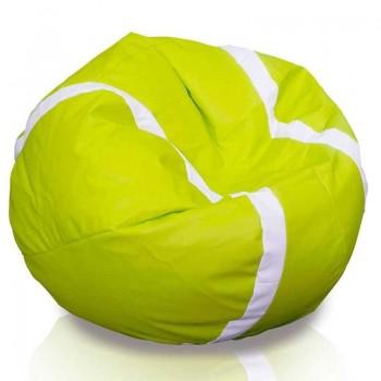 pouf tennis padel puf poltrona sacco pallone grande puff in ecopelle dim. 105 x 55