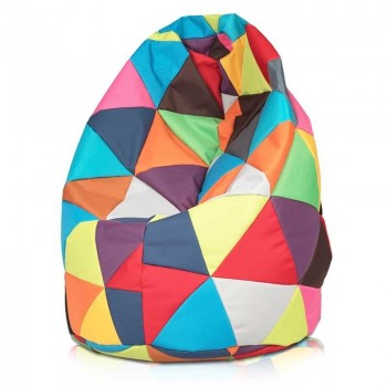 POUF SACCO XL PATCHWORK DESIGN IN ECOPELLE