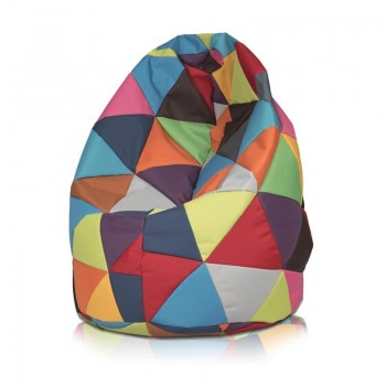 POUF SACCO L PATCHWORK DESIGN IN POLIESTERE