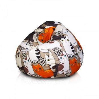pouf poltrona sacco oscar in poliestere design con maniglia