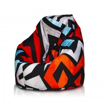 pouf poltrona sacco xl poliestere design modern