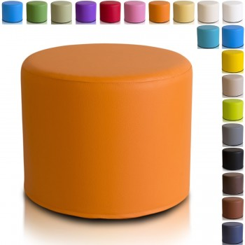POUF CILINDRO ECOPELLE 40X50