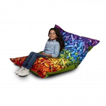 pouf poltrona sacco cuscino imbottito tessuto poliestere design 140x100 cm