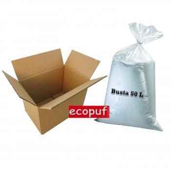 ricarica da 50 litri di perle di polistirolo per pouf