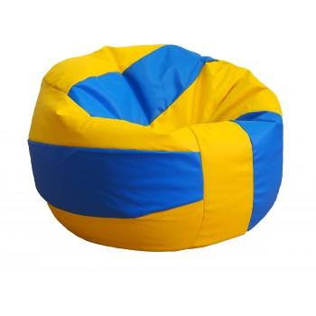 pouf pallone pallavolo in ecopelle palla volleyball ø 90