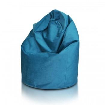 pouf poltrona sacco l in microfibra felpata sfoderabile